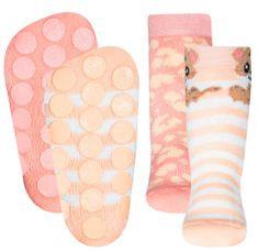 EWERS 2 darabos csúszásgátló lány zokni szett ABS 225061, 17 - 18, rózsaszín