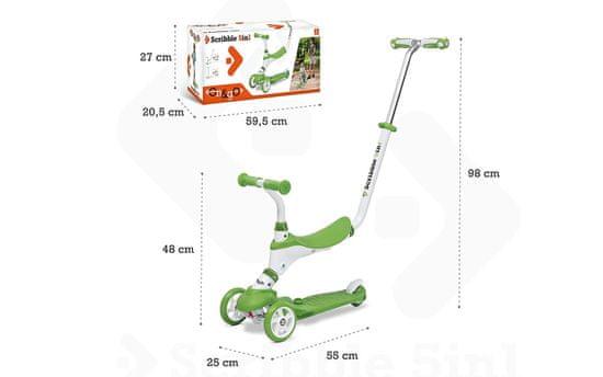 Mondo tricikel-skiro 5v1, zelen (28574)