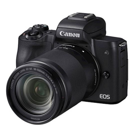 Canon EOS M50 II fotoaparat + objektiv 18-150 IS, crna