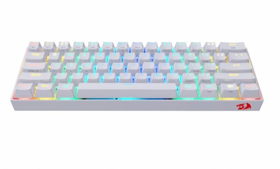 Redragon Draconic K530 brezžična mehanska tipkovnica, TKL, RGB, Bluetooth, bela