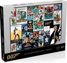Winning Moves Puzzle James Bond 007 Movie poster 1000 elementów