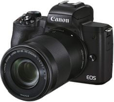 Canon EOS M50 II fotoaparat, 15-45 ISC+ 55-200, črn