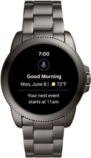 Fossil FTW4049 Gen5E Smartwatch M Grey Steel