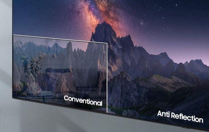 samsung tv televize qled 4K 2021 antireflexní povrch široké pozorovací úhly