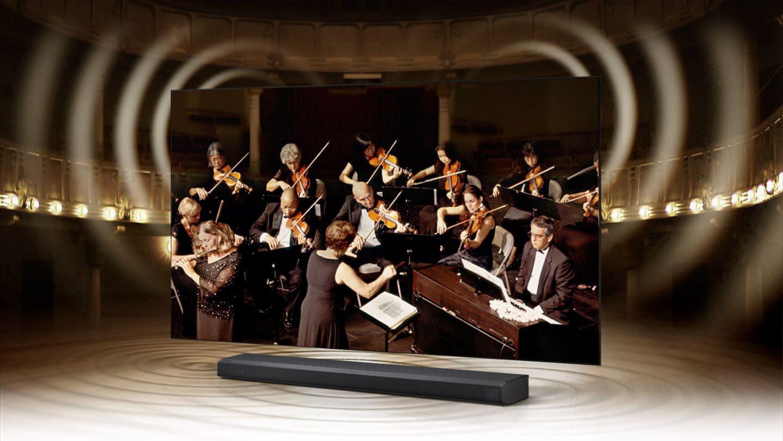 samsung tv televize qled 2021 4K q-symphony soundbar