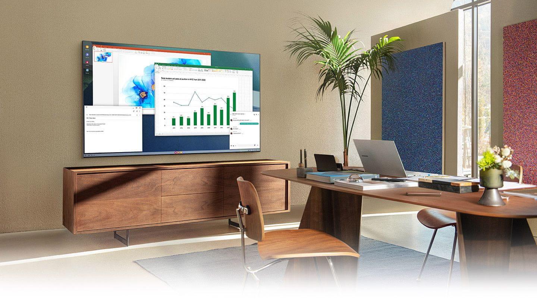 samsung tv televízor qled 2021 4K smart bezdrôtové pripojenie home office online výučba