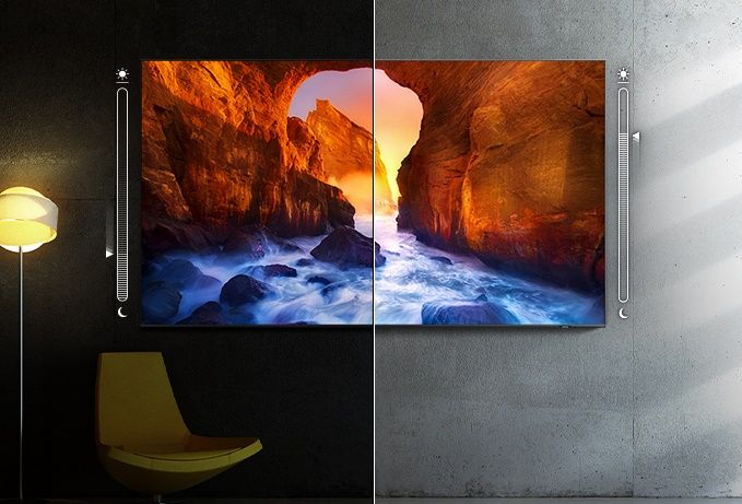 samsung tv televízor qled 4K 2021 adaptívny obraz