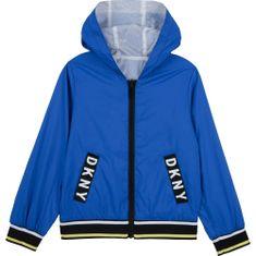DKNY Chlapčenská bunda obojstranná modrá DKNY-DKNY