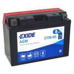 Exide | Motobaterie EXIDE ET9B-BS 12V 8Ah 110A