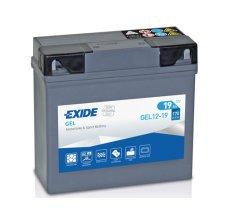 Exide | Motobaterie EXIDE GEL12-19 12V 19Ah 170A (51913 BMV)