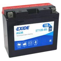 Exide | Motobaterie EXIDE ET12B-BS 12V 10Ah 160A