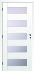 SOLODOOR Interiérové rámové dveře SOLODOOR, model TÜREN 40 prosklené, šířka 700 mm, pravé provedení, povrch folie bílá, oblé hrany, sklo SATINATO