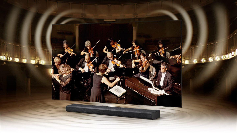 samsung tv televize edge led 4K 2021 q-symphony soundbar