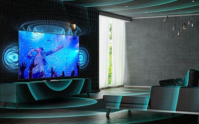 samsung tv televize edge led 2021 4K spacefit sound