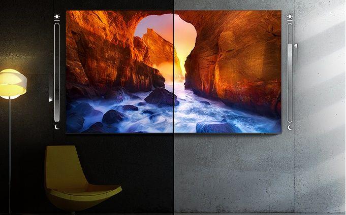 samsung tv televize edge led 4K 2021 adaptivní obraz