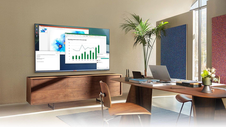 samsung tv televize qled 2021 4K smart bezdrátové připojení home office online výuka