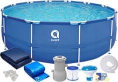 avenli Záhradný bazén s kovovou konštrukciou 305x76 SADA 9v1 s filtráciou