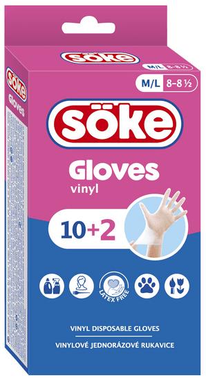 Jednorazowe rękawiczki roz. M/L