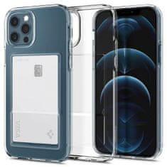 Spigen Crystal Slot silikonski ovitek za iPhone 12 / 12 Pro, prozoren