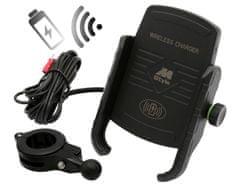 M-Style  EW držák telefonu s bezdrátovým nabíjením a objímkou