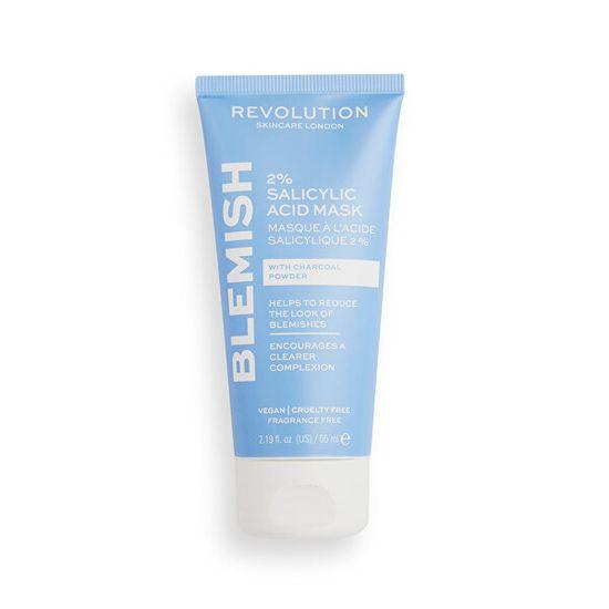 Revolution Skincare Pleť ová maska s aktívnym uhlím Blemish (2% Salicylic Acid Mask) 65 ml