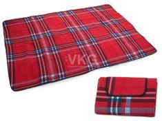 WERK Pikniková deka se spodní nepromokavou vrstvou 150x200 cm, červená T-028-CV