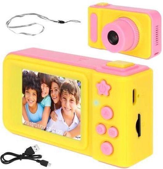 Otroški fotoaparat s petimi igrami, Full HD, roza