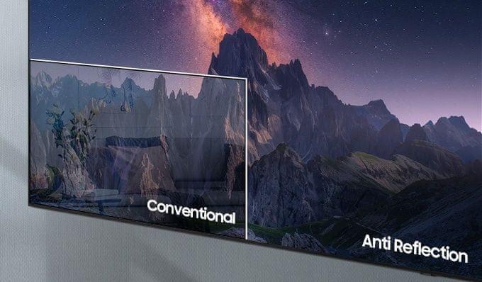 samsung tv televize qled 4K 2021 antireflexní povrch ultraširoké pozorovací úhly
