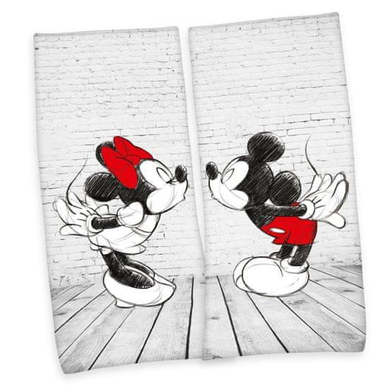 Herding zestaw 2 ręczników Mickey i Minnie 80x180 cm