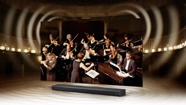 samsung tv televize qled 2021 8K q-symphony soundbar