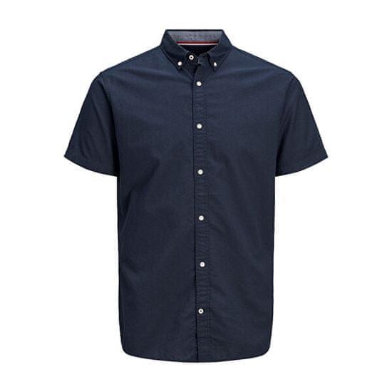 Jack&Jones Moška srajca JJESUMMER SHIRT Slim Fit 12163857 Navy Blaze r