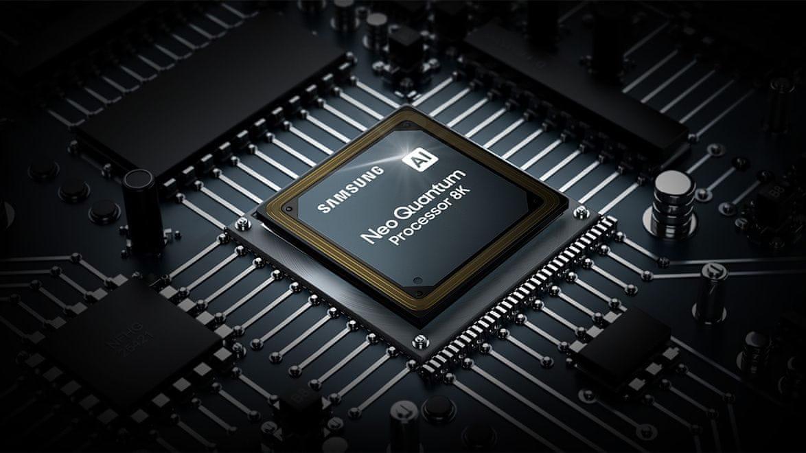 samsung telewizor qled 8K 2021 neo quantum processor 8K AI upscaling