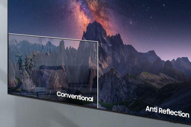 samsung telewizor qled 8K 2021 antyrefleksyjna powierzchnia bardzo szerokie kąty widzenia