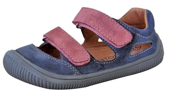 Protetika dekliški barefoot sandali Berg grigio