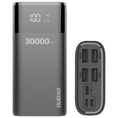 DUDAO K8Max Power Bank 4x USB 30000mAh 4A, črna