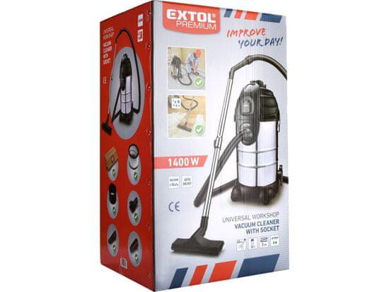 Extol Premium Vysávač univerzálny, 1400W, 30L, suché/mokré vysávanie