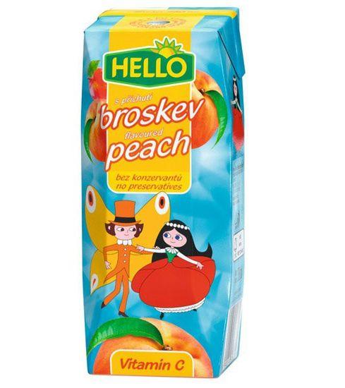 Hello džús ovocný nápoj príchuť broskyňa 0,250l (bal. 18ks)