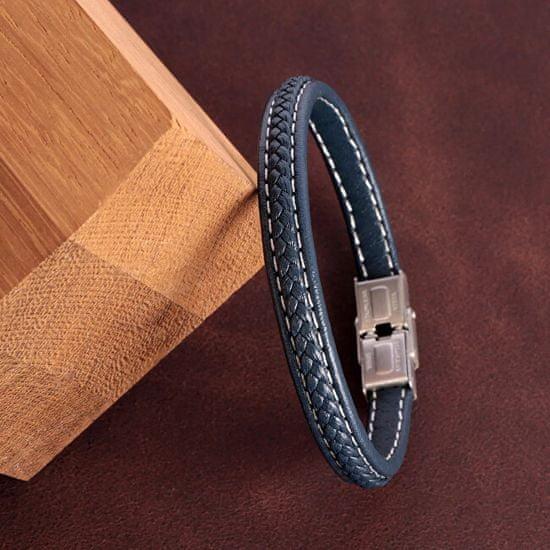 Sector Jewels Elegantný kožený náramok pre mužov Bandy SZV41