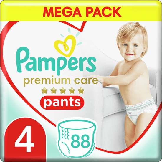 Pampers Premium Pants 4 (9-15 kg) Mega Box 88 ks