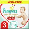 Pampers Premium Pants 3 (6-11 kg) Mega Box 112 ks