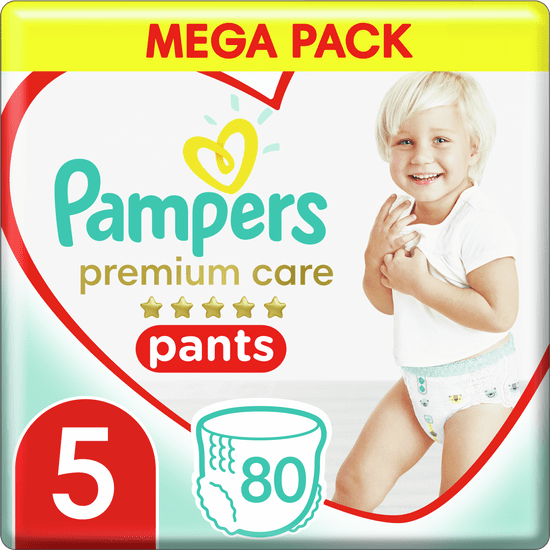 Pampers plenice Premium Care Pants 5 (12-17 kg) Mega Box 80 kosov