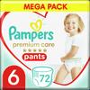 Pampers Premium Care Pants 6 (15+ kg) Mega Box 72 ks