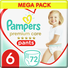 Pampers Premium Care Pants 6 (15+ kg) Mega Box 72 ks