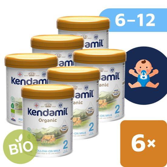 Kendamil BIO Nature pokračovací mléko 2 (6x 800 g) DHA+