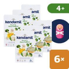 Jemná bezlepková kaše s brokolicí, květákem a sýrem (6x 150 g)