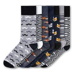 7 PACK - férfi zokni FSA459