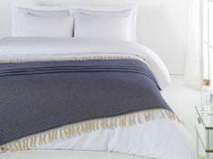 Denizli Concept Cienka narzuta na łóżko ELMAS kolor ciemny niebieski 200x240 cm.