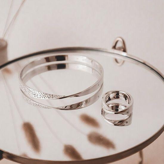 Hot Diamonds Ezüst gyémánt gyűrű Quest DR219 ezüst 925/1000
