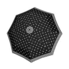 Doppler Damskiskładany parasolBlack &white 7441465BW 04