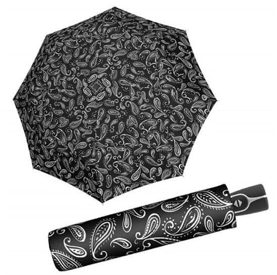 Doppler Damskiskładany parasolBlack &white 7441465BW 05